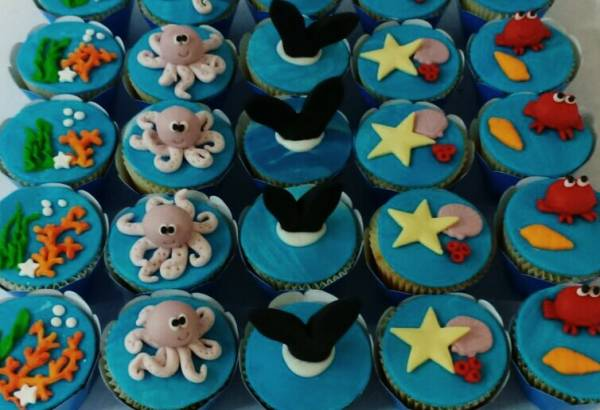 CUPCAKE PERSONALIZADO FUNDO DO MAR